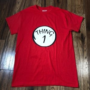 Dr Seuss Thing 1 red T-shirt small